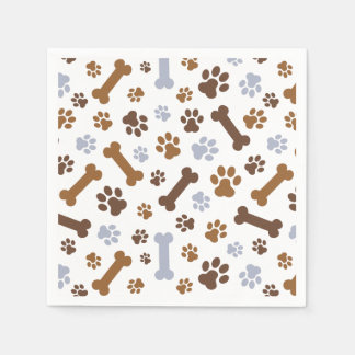 Dog Paw Prints Pattern Disposable Napkin