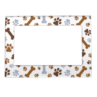 dog paw prints pattern magnetic picture frame - Dog Frame