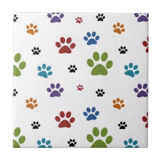 Dog Paw Prints Tile