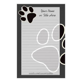 Dog Paw Stationery