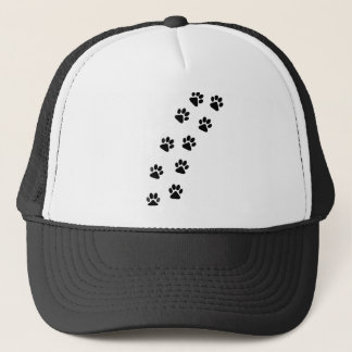 Dog Paw Track Trucker Hat