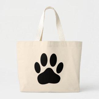 Dog Pawprint Large Tote Bag