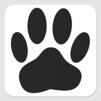 Dog Pawprint Stickers