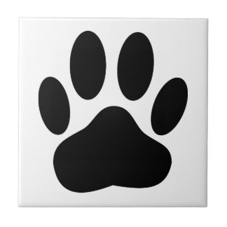 Dog Pawprint Small Square Tile