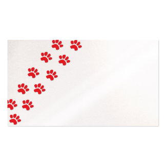 Dog Paws/Animal Paws Pack Of Standard Business Cards