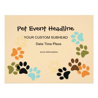 Dog Paws cusom flyer