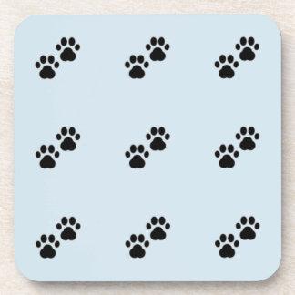 Dog Paws on Blue Coaster