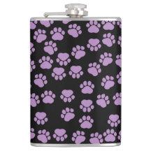 Dog Paws, Traces, Paw-prints - Purple Black