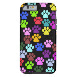 Dog Paws, Trails, Paw-prints - Red Blue Green Tough iPhone 6 Case