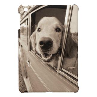 Dog Peeking Out a Car Window Case For The iPad Mini