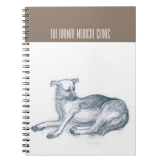 Dog. Pencil drawing. Spiral Notebook