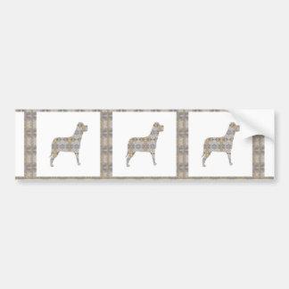 DOG pet animal CRYSTAL Jewel NVN450 KIDS LARGE Bumper Sticker
