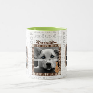 Dog Pet Memorial Custom Photo Two-Tone Mug