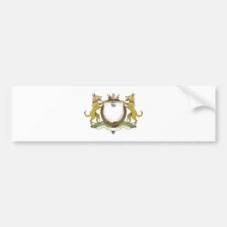 Dog pets heraldic shield coat of arms bumper sticker