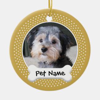 Dog Photo Frame - SINGLE-SIDED Christmas Ornament