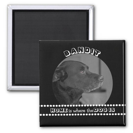 Dog Photo Funny Quote Custom Name Keepsake Magnet