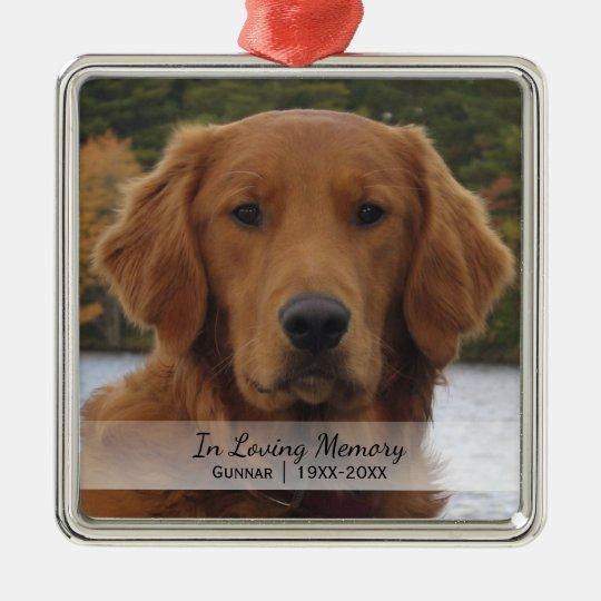 Dog Photo In Loving Memory Name Year Christmas