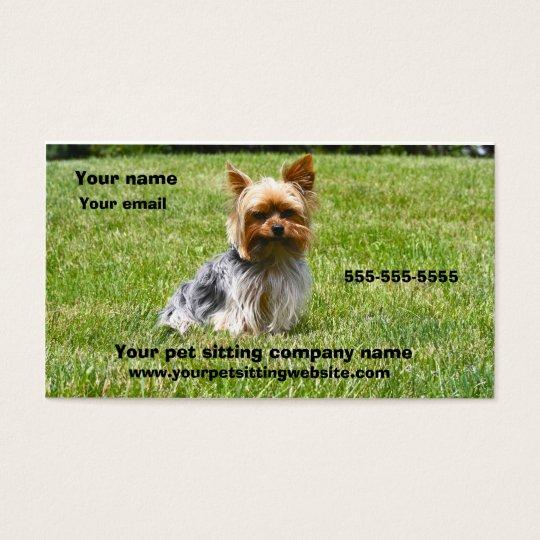 Dog photography pet care business card