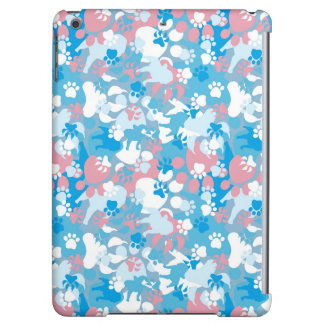 Dog Pink and Blue Camouflage Pattern