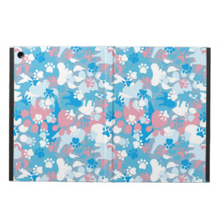 Dog Pink and Blue Camouflage Pattern Case For iPad Air