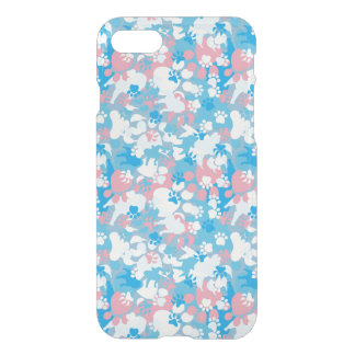 Dog Pink and Blue Camouflage Pattern iPhone 8/7 Case