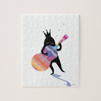 Dog Playing Guitar Jigsaw Puzzle