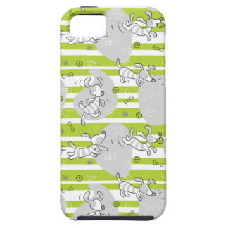 dog playing pattern background case for the iPhone 5