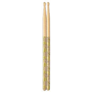 dog playing pattern background drumsticks