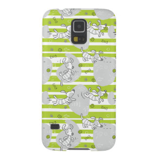 dog playing pattern background galaxy s5 case