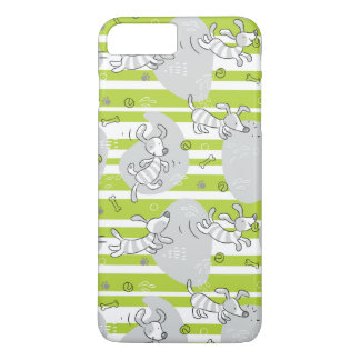 dog playing pattern background iPhone 8 plus/7 plus case