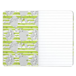 dog playing pattern background journal