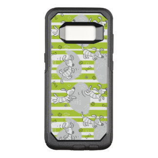 dog playing pattern background OtterBox commuter samsung galaxy s8 case
