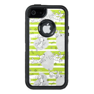 dog playing pattern background OtterBox defender iPhone case