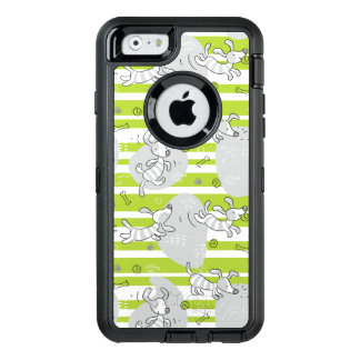 dog playing pattern background OtterBox iPhone 6/6s case