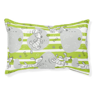 dog playing pattern background pet bed