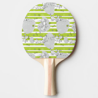 dog playing pattern background ping pong paddle