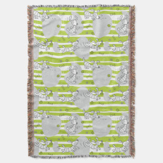 dog playing pattern background throw blanket