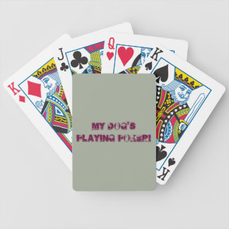 dog playing poker cards