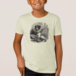 """Dog Playing the Flute"" Vintage Illustration T-Shirt"
