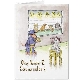 Dog Police Lineup - Birthday Card
