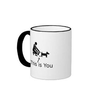 Dog poop ringer mug