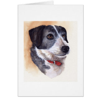 Dog Portrait Created in Watercolour Greeting Cards