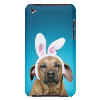 Dog portrait wearing Easter bunny ears Barely There iPod Cover