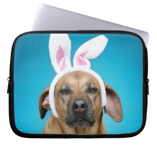 Dog portrait wearing Easter bunny ears Laptop Sleeve