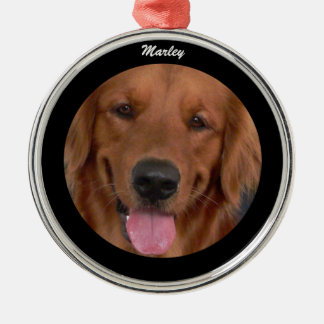 Dog Premium Round Ornament with Name