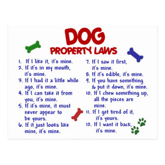 DOG Property Laws 2 Postcard