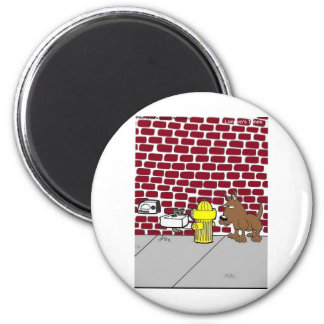 Dog Public Bathrooms Funny Cartoon Tees & Gifts 6 Cm Round Magnet