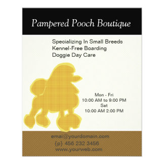 Dog Puppy Grooming Salon Customized Pet Care 11.5 Cm X 14 Cm Flyer
