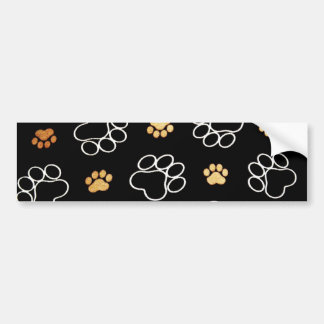 Dog Puppy Paw Prints Gifts for Dog Lovers Bumper Sticker
