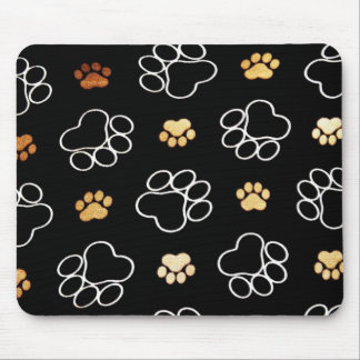 Dog Puppy Paw Prints Gifts for Dog Lovers Mouse Mat